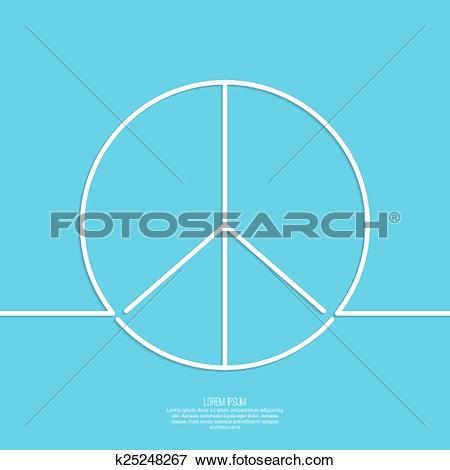Clip Art of Peace sign. k25248267.
