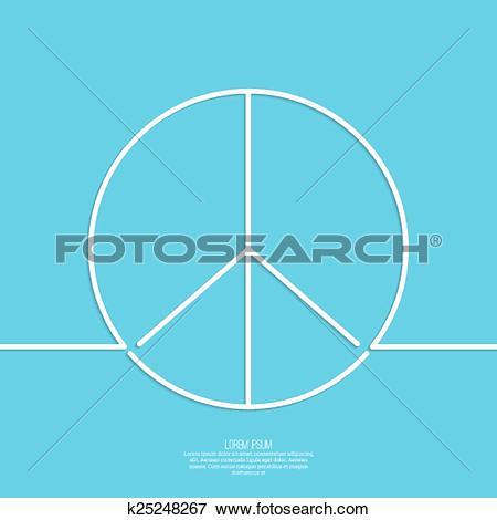 Clip Art of Peace sign. k25248267.