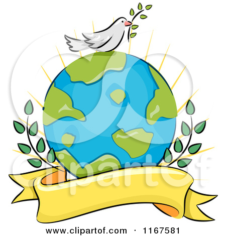 Peaceful world clipart.