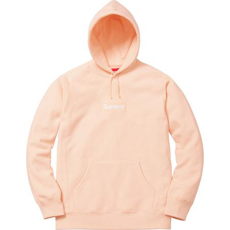 Unhs Version Peach Box Logo Hoodie from Supreme on 21 Buttons.