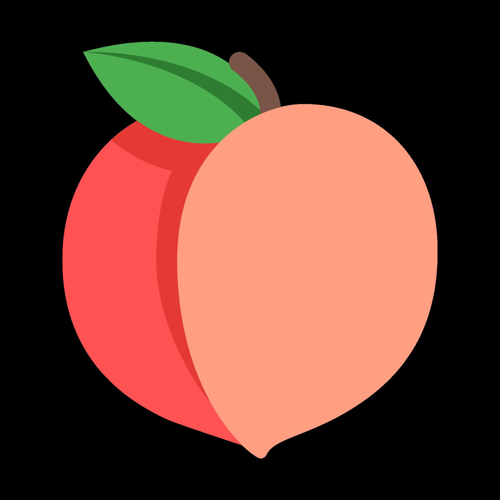 Georgia Peach Clipart.