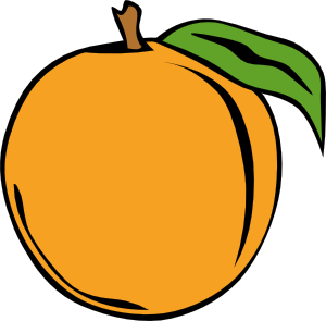 Peach clip art Free Vector / 4Vector.