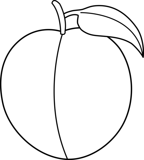Peach Clipart Black And White.