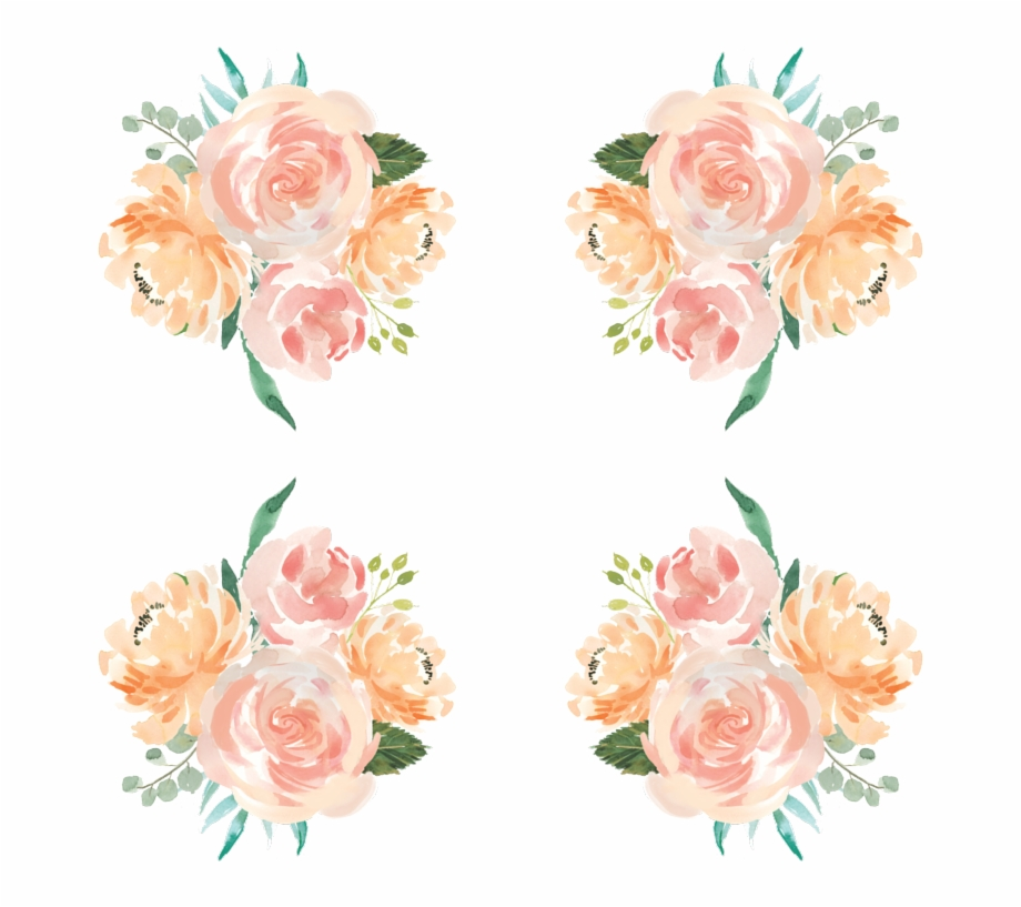 Bouqet Of Coral And Peach Flowers Wallpaper.