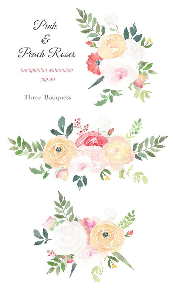 Watercolour Bouquet Clipart.