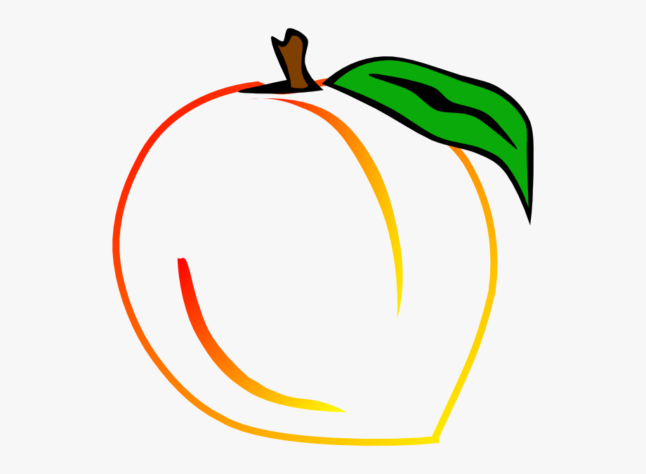 Fresh Peach Clip Art.