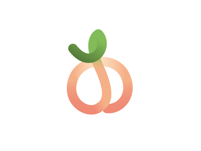 Peach logo by Cindy Lam on Dribbble.