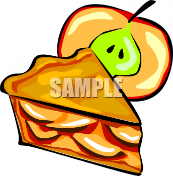 Slice Of Apple Pie With An Apple Clipart Image.