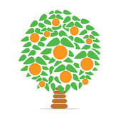Orange Tree Clip Art.