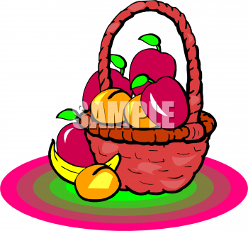 Peaches basket clipart #12