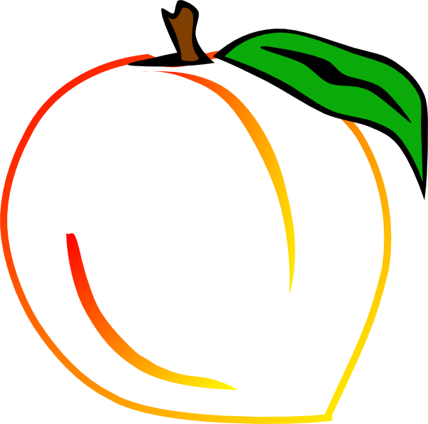 Outline Of Peaches Clipart.