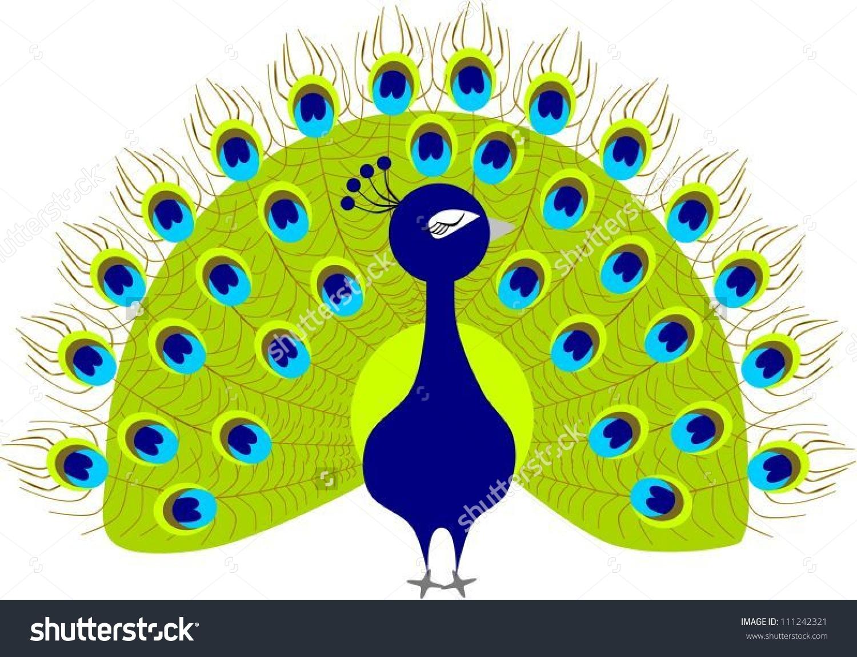 Peacock Clipart Stock Vector 111242321.