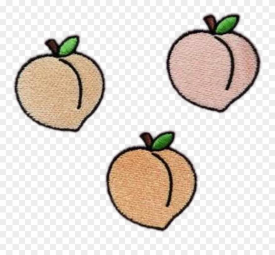 Peach Peachy Peaches Fruit Tumblr Patch Grunge Freetoed.