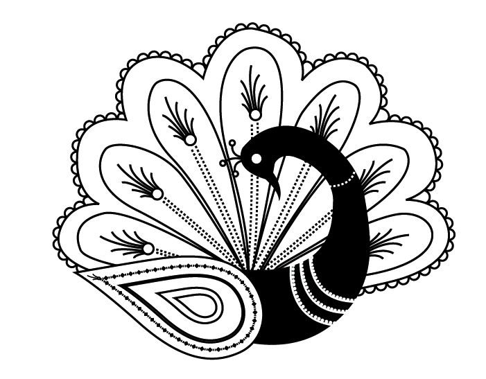 Free Black And White Peacock Designs, Download Free Clip Art.