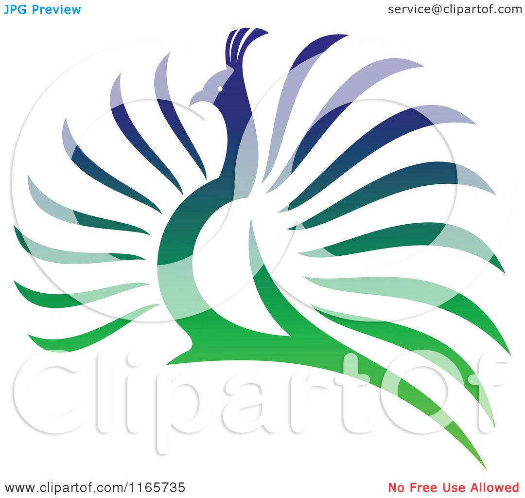 Clipart of a Colorful Peacock 4.