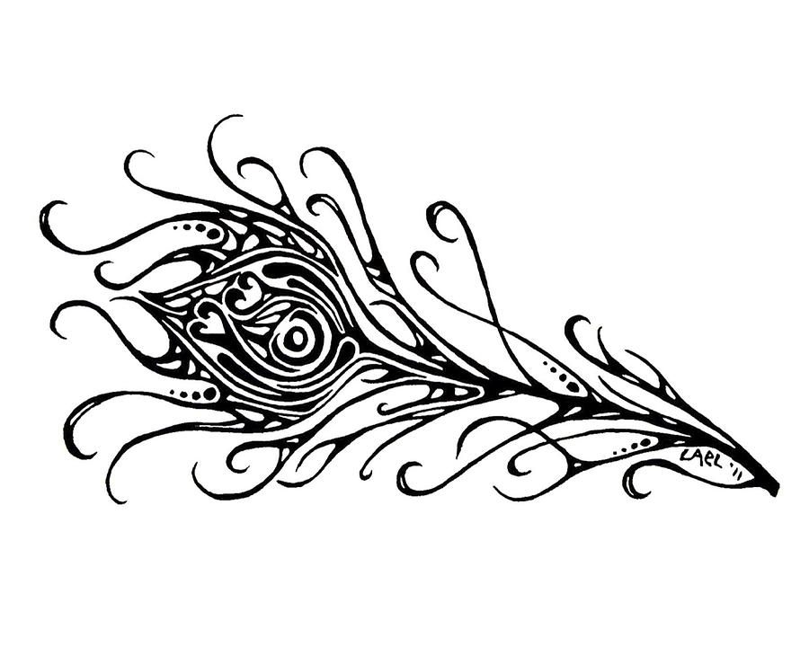 Free Black And White Peacock Feather, Download Free Clip Art.