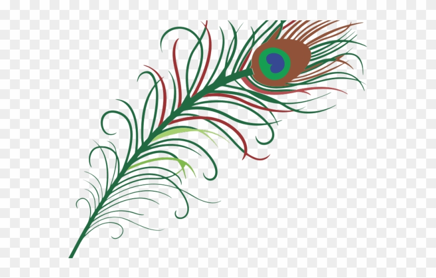 Simple Clipart Peacock.
