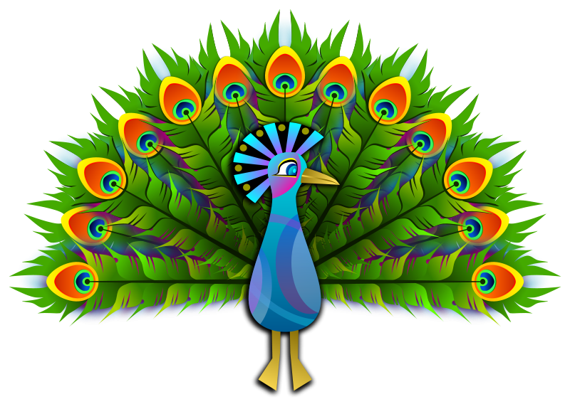Free Clipart: Peacock.