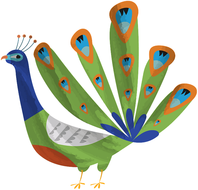 Peacock clipart. Free download..