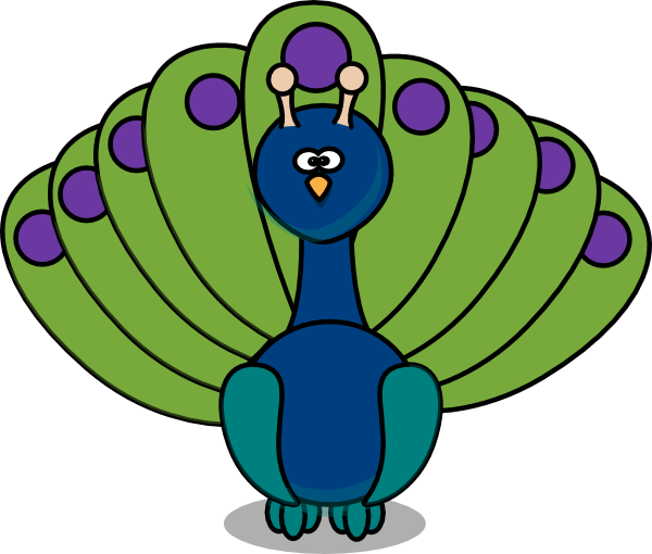 Peacock Clipart Black And White.