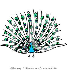 Pretty Peacocks Cute Digital Clipart for Commercial or Personal.