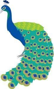 Peafowl clipart #2