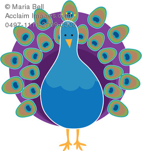 Peacock Clipart Image.