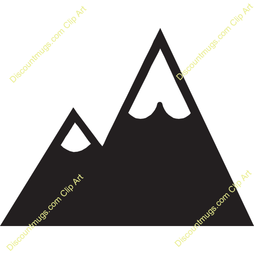 Two Mountain Peak Clipart.