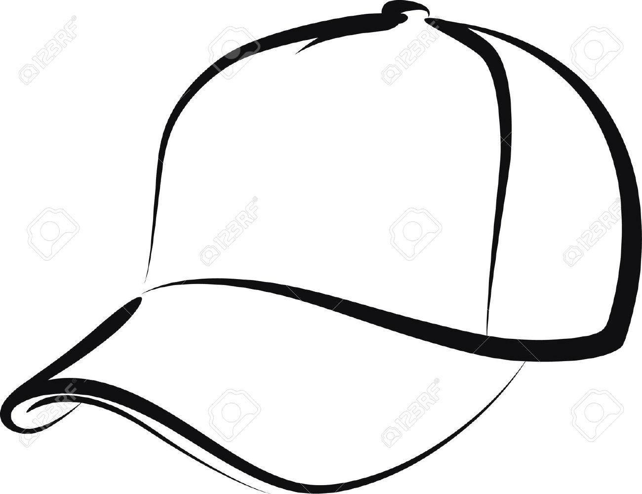 Baseball cap side view clipart.