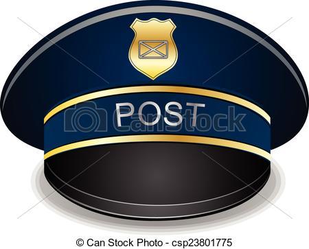 Vectors Illustration of Postman cap.