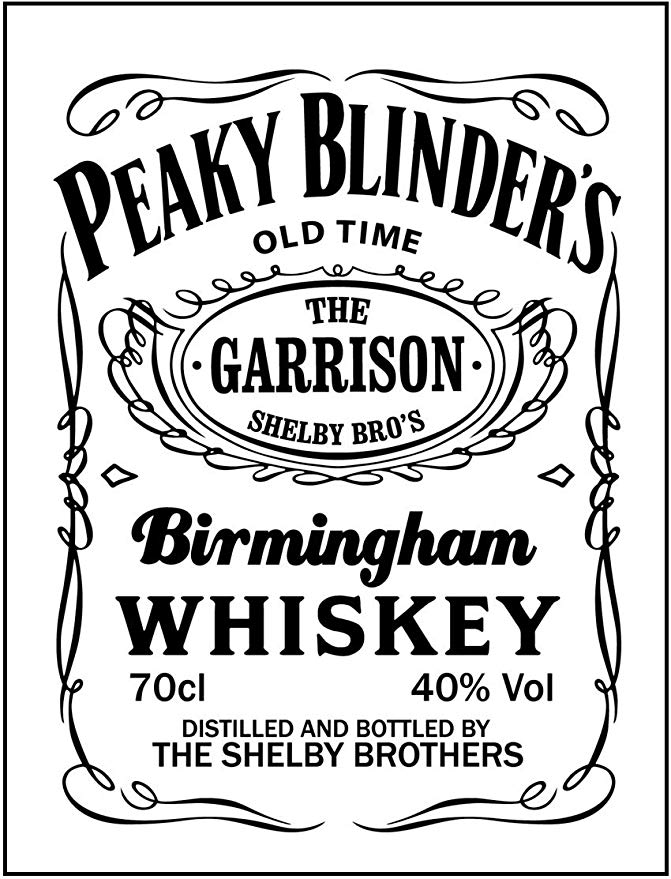 PEAKY BLINDERS Tv Show inspired Vintage Wall tin Plaque.