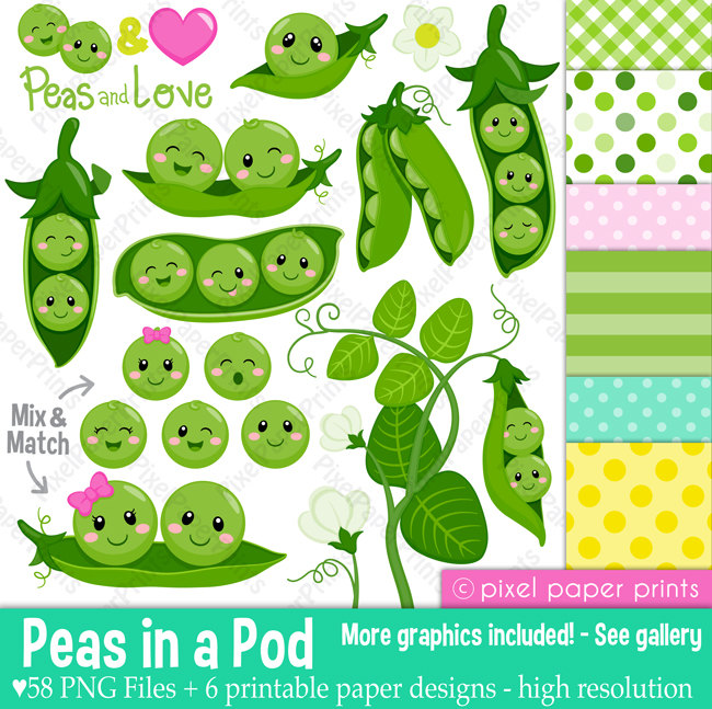 Peas in a Pod Clipart.