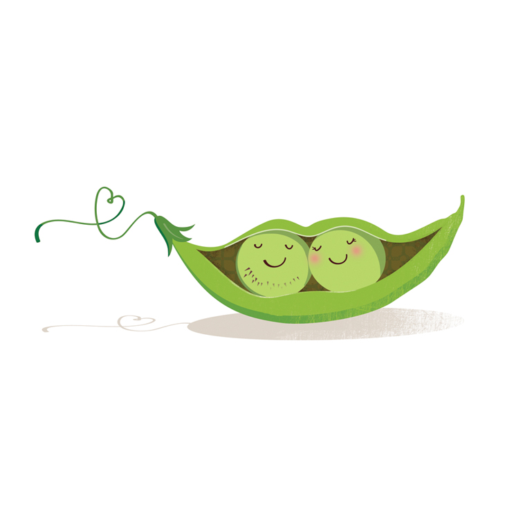 Doodles and things: Like 2 peas in a pod..