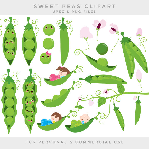 Peas in a pod clip art sweet peas clipart by WinchesterLambourne.