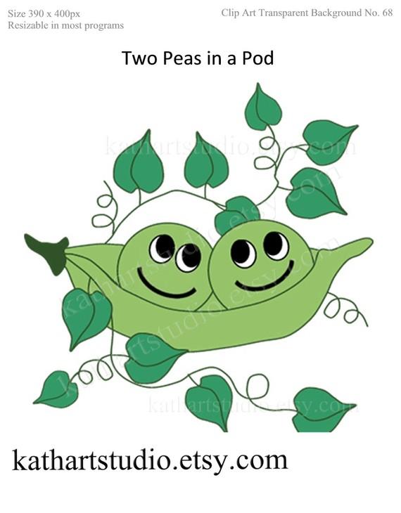 Two Peas In A Pod Clip Art.