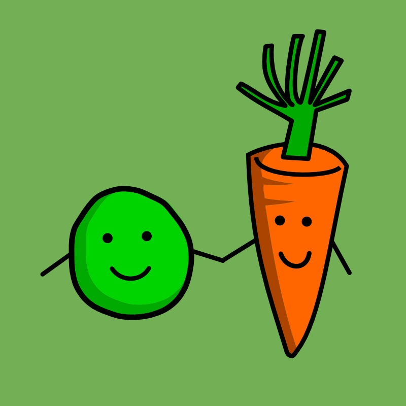 Peas and carrots clipart.