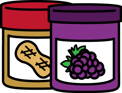 FREE peanut butter and jelly clip art by MyCuteGraphics.