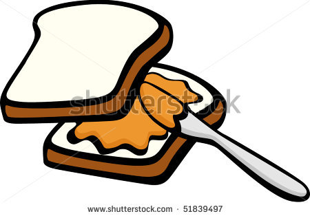 Peanut Butter And Jelly Sandwich Clipart.