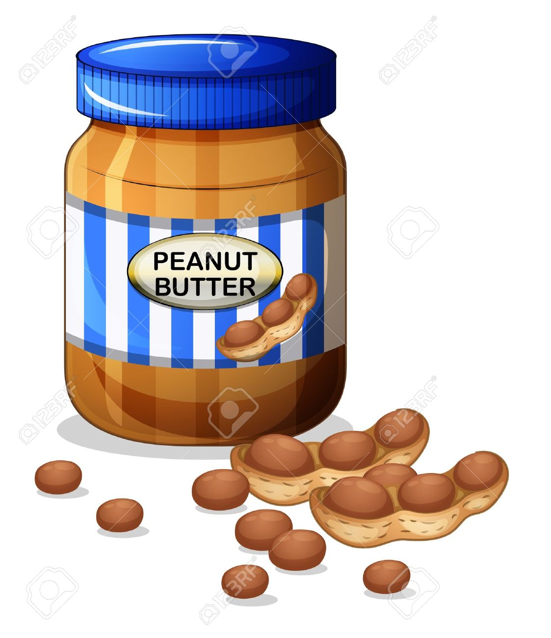 701 Peanut Butter Stock Vector Illustration And Royalty Free.