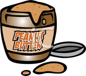 Tub of Peanut Butter.