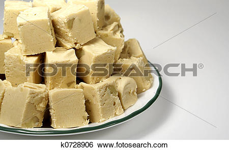 Stock Images of Peanut Butter Fudge k0728906.