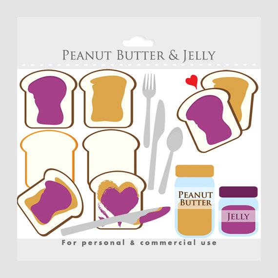 Peanut butter and jelly clipart toast peanut butter jam.