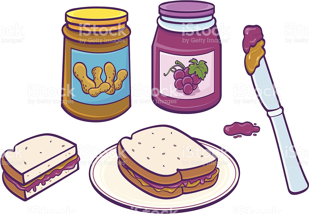 Peanut Butter And Jelly Sandwich Clip Art, Vector Images.