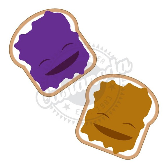 Peanut butter jelly time clipart.
