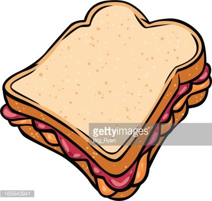Peanut Butter Jelly Sandwich Vector Art.