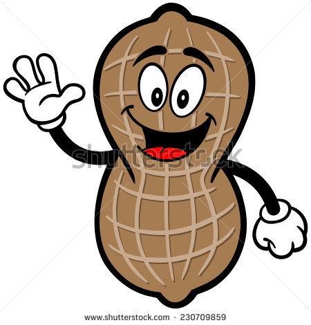 Cute Cartoon Peanut Vector Clip Art Stock Vector 118096492.