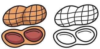 Peanut Clipart Black And White Transparent Png 3.