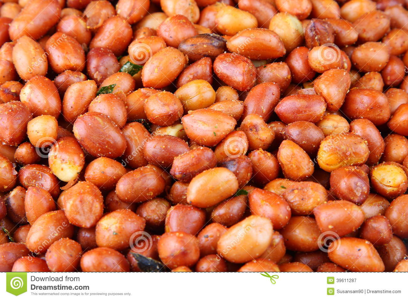 Fried Spicy Peanuts Royalty Free Stock Photos.