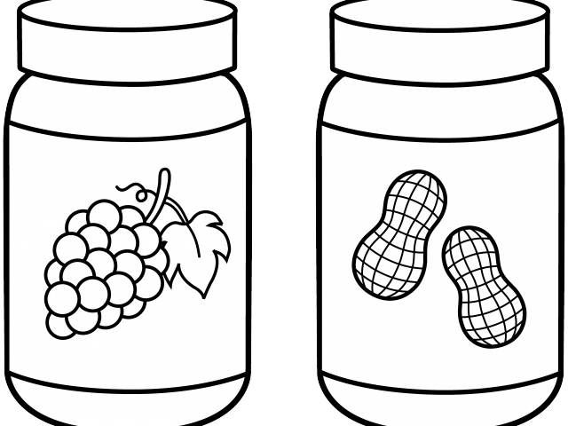 Jar Clipart Outline Peanut Butter And Jelly Clipart.