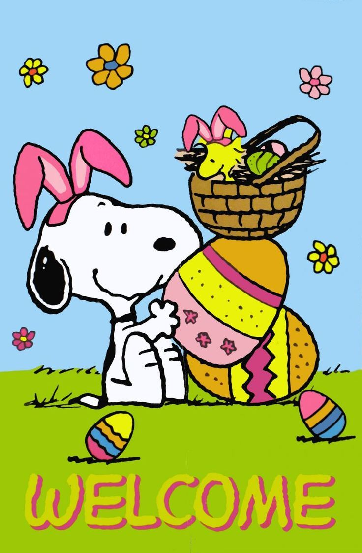 Snoopy Easter Clipart Clipart Kid.